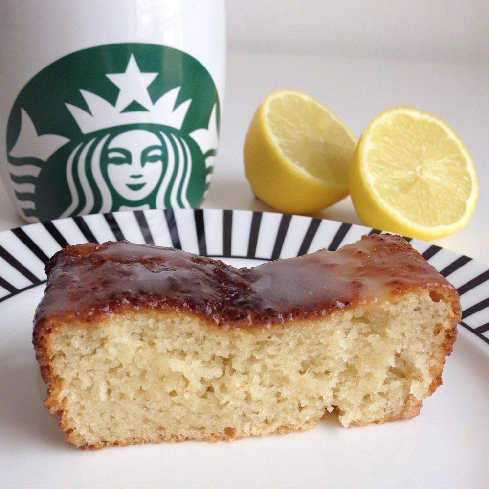 Vegan versie van Starbucks lemon cake