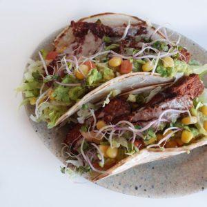 Vegan biefstuk taco wraps