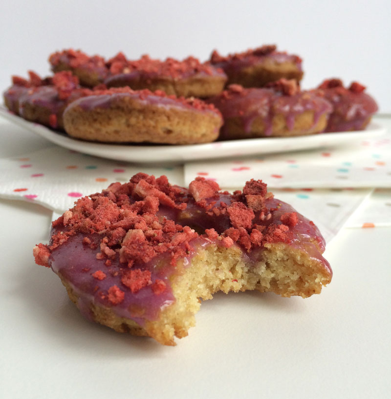 Very berry vegan donuts