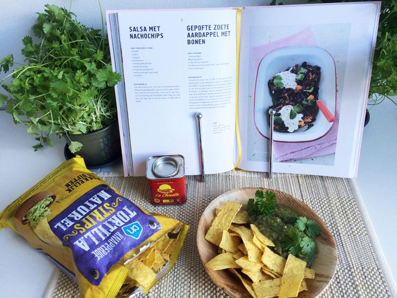 Salsa met nachochips